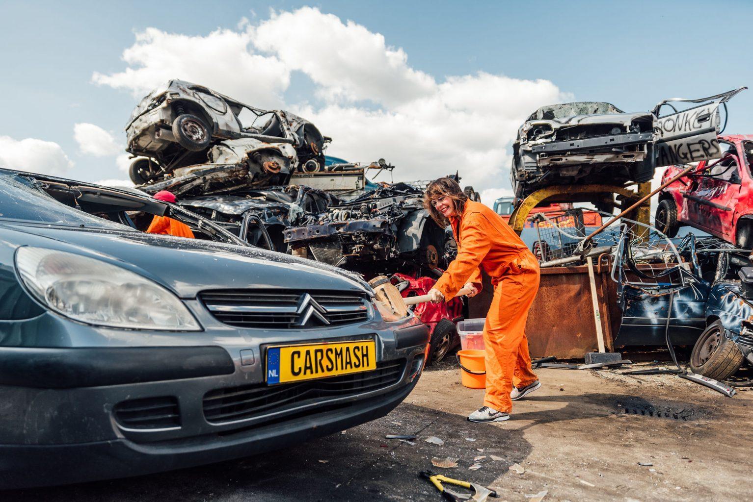 Auto kapot slaan Amsterdam CarSmash